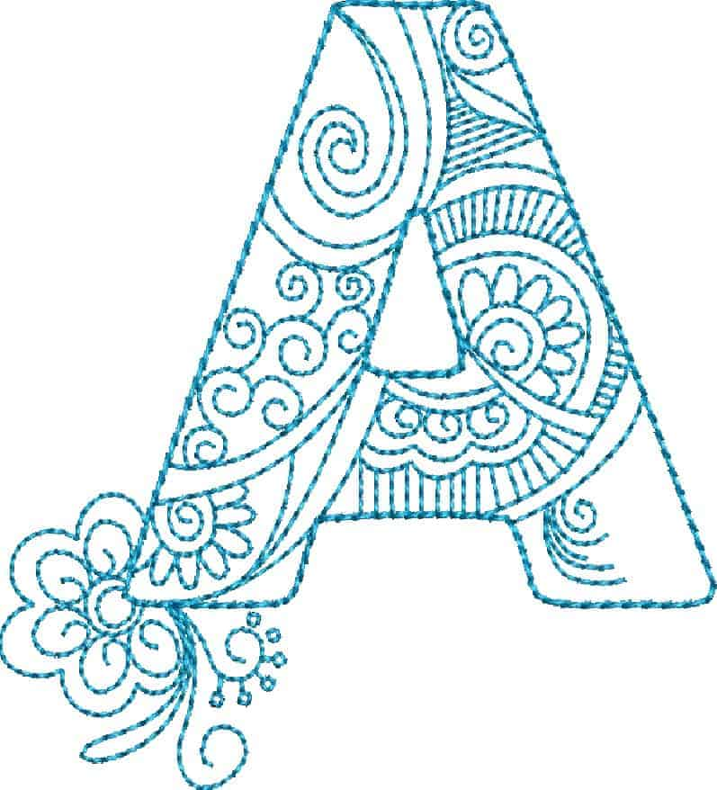 One Line Letter Art : Zendoodle alphabet cd ⋆ gina reddin designs