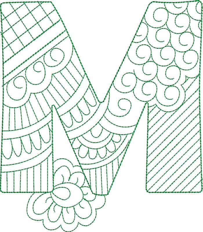 Embroidery Designs Alphabets Fonts